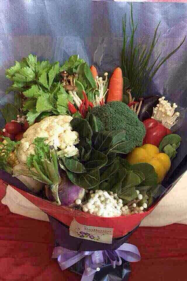 Bouquet made of vegetables for Mother's Day