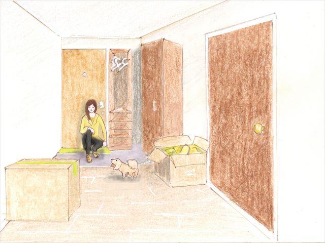 一回目のアパート