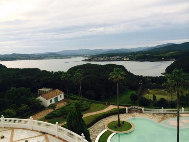 ホテルの部屋からの眺め