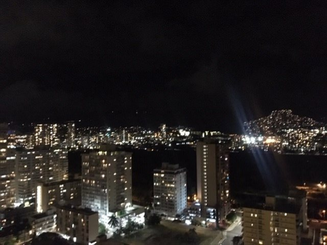 ホテルから素晴らしい山側夜景