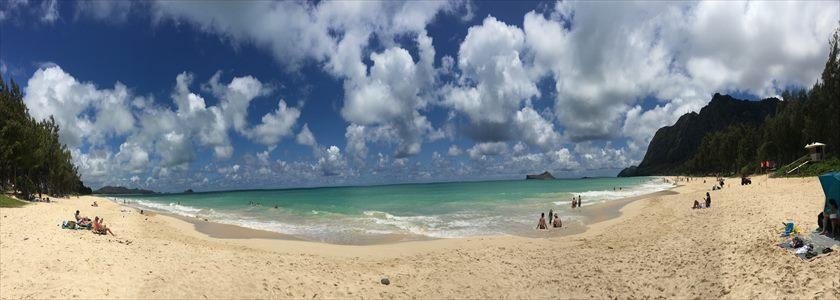 ワイマナロビーチのパノラマビュー