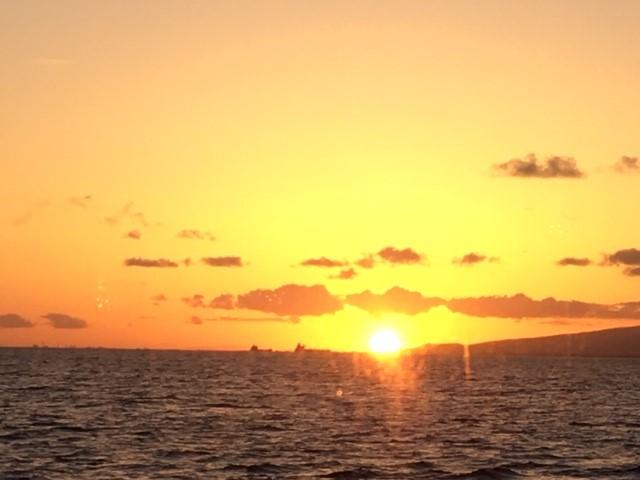スターオブホノルル号から見たサンセット