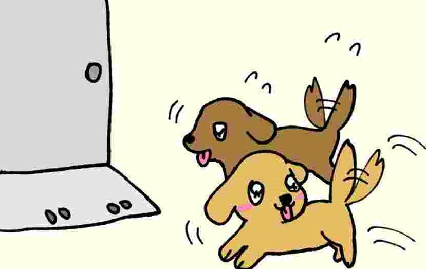 あいちゃん6コマ漫画5 「お散歩」