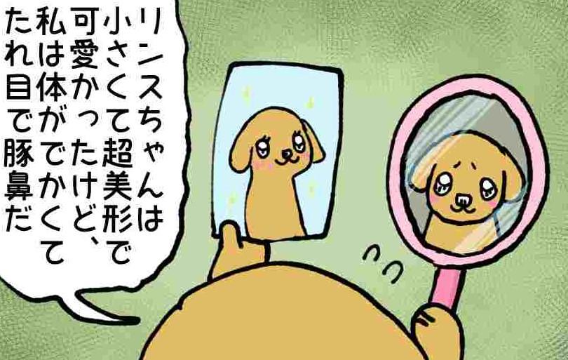 あいちゃん6コマ漫画6 「比べる」