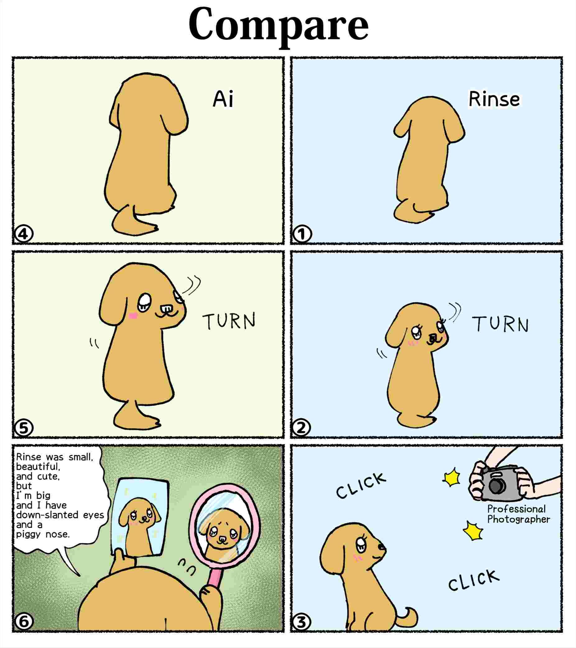 """Six-panel-comics-AI-chan6 """"Compare"""""""